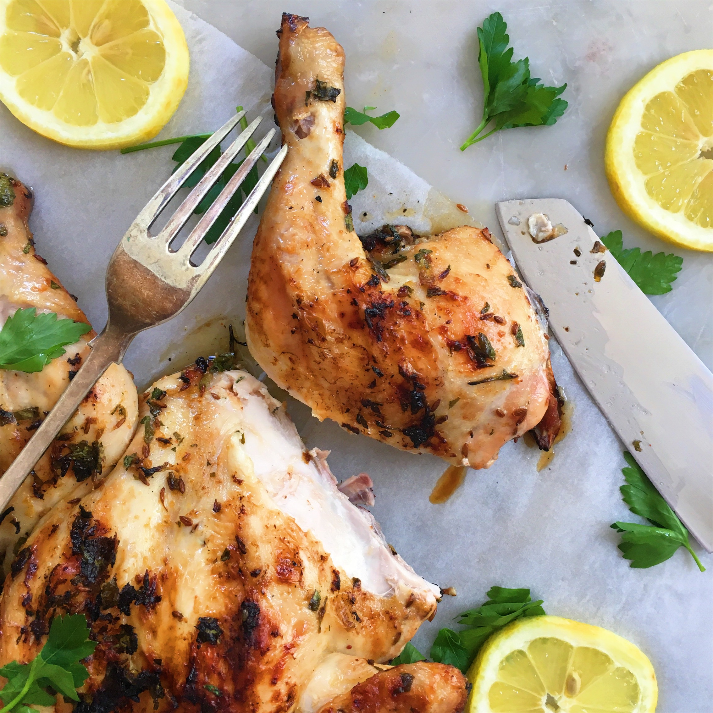 Lemon Parsley And Cumin Barbecued Chicken The Healthy Hunter